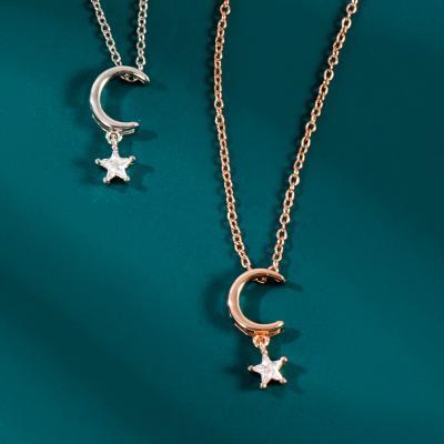 HKGOLD香港黄金D01-K02追星逐月项链